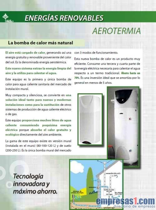Natural project el ctricas renovables sant jaume dels - Aerotermia opiniones ...