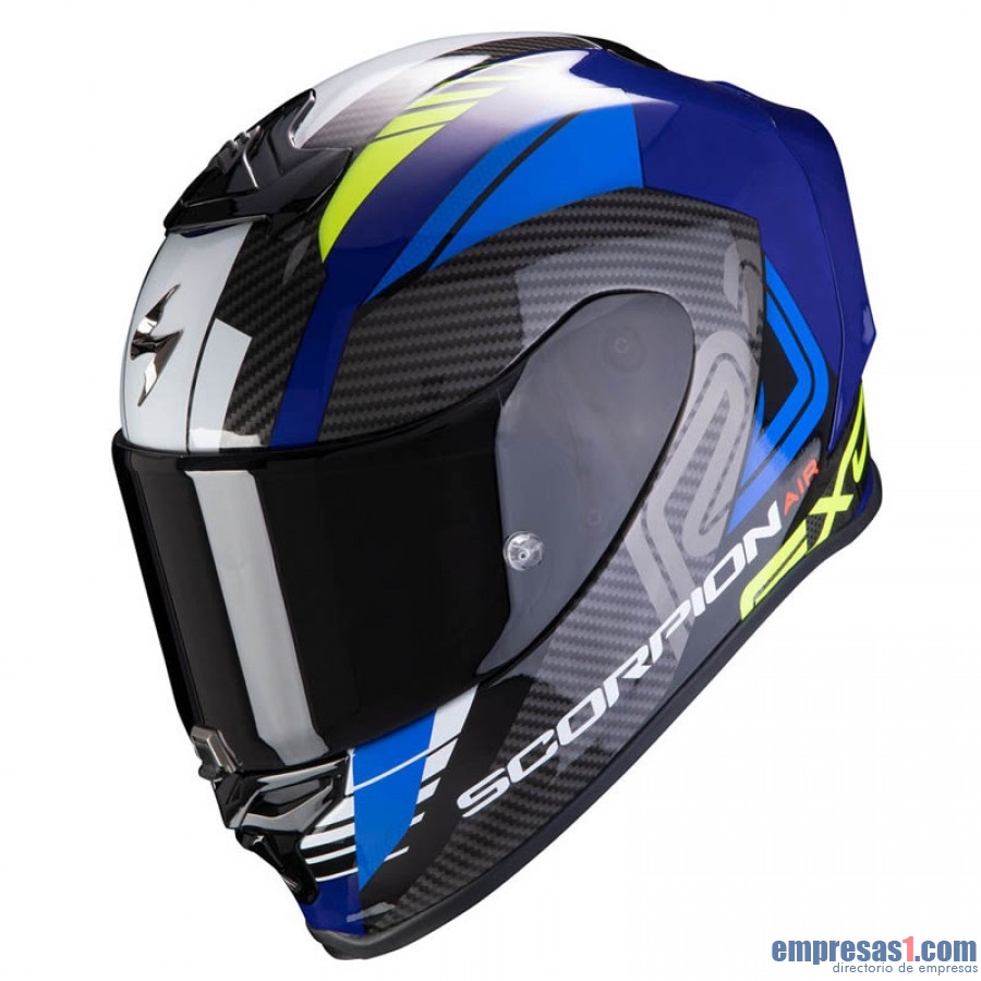 Casco SCORPION Exo R1 Air Halley Azul Amarillo Neón